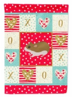 Carolines Treasures  CK5438CHF Chinese Hamster Love Flag Canvas House Size