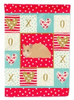 Carolines Treasures  CK5443CHF Syrian Golden Hamster Love Flag Canvas House Size - House Size