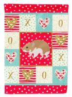 Carolines Treasures  CK5445CHF Turkish Hamster Love Flag Canvas House Size - House Size