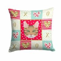 California Spangled Cat Love Fabric Decorative Pillow