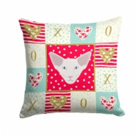 Oriental Longhair Cat Love Fabric Decorative Pillow
