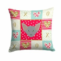 Oriental Shorthair Cat Love Fabric Decorative Pillow
