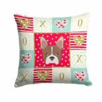 Carolines Treasures  CK5187PW1414 Boston Terrier Love Fabric Decorative Pillow