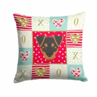 Carolines Treasures  CK5211PW1414 Japanese Terrier Love Fabric Decorative Pillow