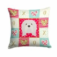 Carolines Treasures  CK5215PW1414 Lhasa Apso Love Fabric Decorative Pillow