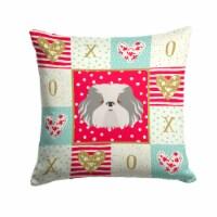Carolines Treasures  CK5223PW1414 Odis Dog Love Fabric Decorative Pillow