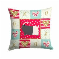Welsh Black-Necked Goat Love Fabric Decorative Pillow