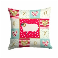 Scottish Blackface Sheep Love Fabric Decorative Pillow