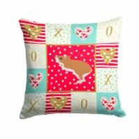 White Legged Hamster Love Fabric Decorative Pillow