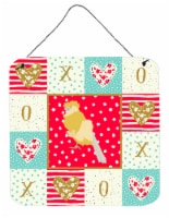 Carolines Treasures  CK5502DS66 French Curly Canary Love Wall or Door Hanging Pr - 6HX6W