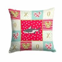 Carolines Treasures  CK5482PW1414 Iridescent Shark Love Fabric Decorative Pillow