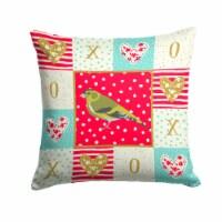 Carolines Treasures  CK5514PW1414 Siskin Love Fabric Decorative Pillow - 14Hx14W