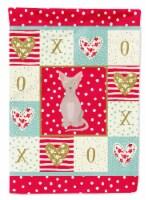 Carolines Treasures  CK5770CHF Minskin Cat Love Flag Canvas House Size