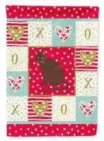 Carolines Treasures CK5780CHF 28 x 0.01 x 40 in. Raas Cat Love Canvas House Flag