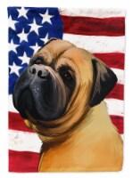 Bullmastiff Dog American Flag Flag Canvas House Size