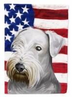 Cesky Terrier Dog American Flag Flag Canvas House Size