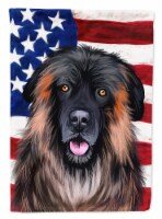 Estrela Mountain Dog American Flag Flag Canvas House Size