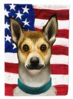 Norwegian Lundehund Dog American Flag Flag Canvas House Size - House Size