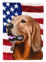 Segugio Italiano Dog American Flag Flag Canvas House Size