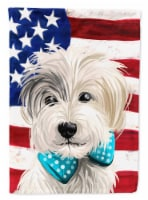 Sporting Lucas Terrier American Flag Flag Canvas House Size - House Size