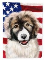 Carpathian Shepherd Dog American Flag Flag Garden Size