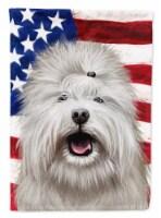 Carolines Treasures  CK6495GF Coton de Tulear Dog American Flag Flag Garden Size