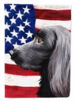 Large Munsterlander Dog American Flag Flag Garden Size - Garden Size