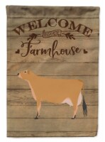 Carolines Treasures  CK6773CHF Jersey Cow Welcome Flag Canvas House Size - House Size