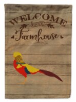 Golden or Chinese Pheasant Welcome Flag Canvas House Size