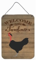 Naked Neck Chicken Welcome Wall or Door Hanging Prints