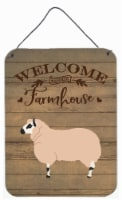 Kerry Hill Sheep Welcome Wall or Door Hanging Prints - 16HX12W