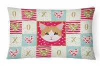 Carolines Treasures  CK5116PW1216 European Shorthair Cat Love Canvas Fabric Deco