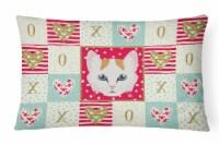 Carolines Treasures  CK5176PW1216 Turkish Van Cat Love Canvas Fabric Decorative