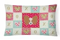 Carolines Treasures  CK5224PW1216 Papillon Love Canvas Fabric Decorative Pillow