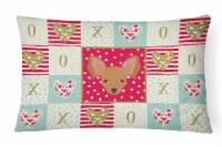 Carolines Treasures  CK5234PW1216 Russian Tor Terrier Love Canvas Fabric Decorat - 12Hx16W