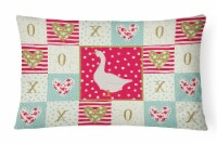 Carolines Treasures  CK5319PW1216 Embden Goose Love Canvas Fabric Decorative Pil - 12Hx16W