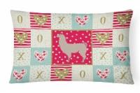 Carolines Treasures  CK5343PW1216 Llama Love Canvas Fabric Decorative Pillow