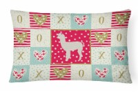 Carolines Treasures  CK5346PW1216 Alpaca Love Canvas Fabric Decorative Pillow - 12Hx16W