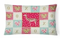 Carolines Treasures  CK5348PW1216 Guanaco Love Canvas Fabric Decorative Pillow