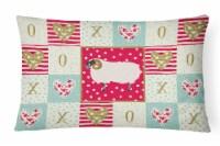 Scottish Blackface Sheep Love Canvas Fabric Decorative Pillow