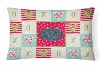 Carolines Treasures  CK5469PW1216 Emperor Angelfish Love Canvas Fabric Decorativ - 12Hx16W