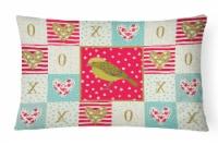 Carolines Treasures  CK5504PW1216 Lizard Canary Love Canvas Fabric Decorative Pi