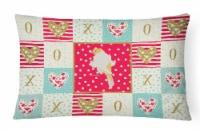 Parisian Trumpeter Canary Love Canvas Fabric Decorative Pillow - 12Hx16W