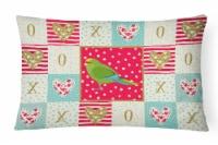 Carolines Treasures  CK5524PW1216 New Zealand Parakeet Love Canvas Fabric Decora - 12Hx16W
