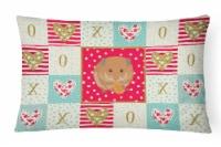 Carolines Treasures  CK5444PW1216 Teddy Bear Hamster Love Canvas Fabric Decorati - 12Hx16W