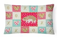 Carolines Treasures  CK5445PW1216 Turkish Hamster Love Canvas Fabric Decorative - 12Hx16W