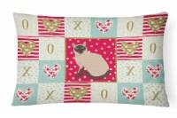 Siamese Traditional Cat Love Canvas Fabric Decorative Pillow