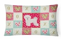 Carolines Treasures  CK5814PW1216 Bichon Fris? #2 Love Canvas Fabric Decorative - 12Hx16W