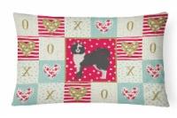 Carolines Treasures  CK5829PW1216 Elo Dog #2 Love Canvas Fabric Decorative Pillo