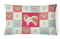 Carolines Treasures  CK5848PW1216 Japanese Chin #1 Love Canvas Fabric Decorative